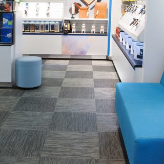 Telenor uses Bolon's floor tiles in its Swedish stores