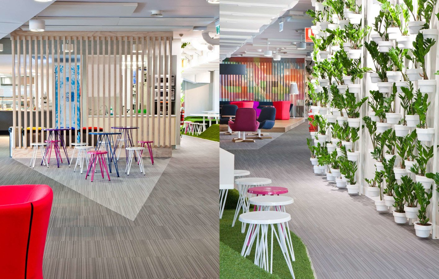 Australian office space of Yarra Valley Water features different flooring designs from Bolon